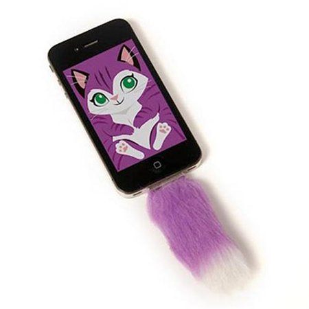 Faux Purple Fox Tail For Iphone Clip in Accessory With - Halloween Screensavers For Android