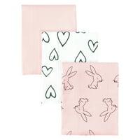 Little Star Organic 100% Pure Organic Cotton Burp Cloth, 3 Pk, Pink-Modern Blush