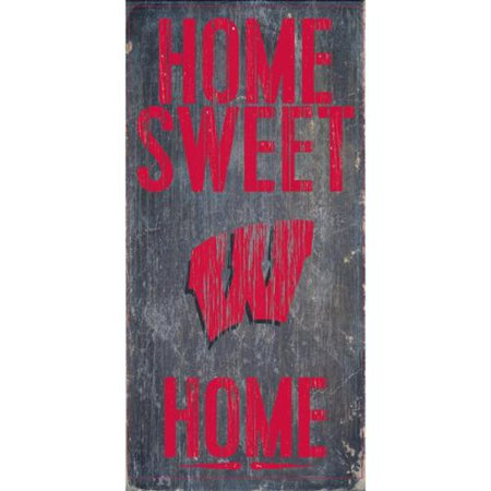 Wisconsin Badgers Wood Sign - Home Sweet Home - Wisconsin Badgers Wood