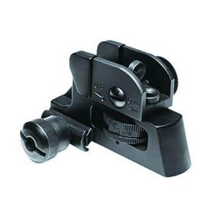 Match Grade Detachable Rear Sight with Full Range Windage and Elevation Adjustment