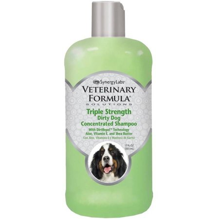 - Veterinary formula triple strength dirty dog concentrated shampoo, 17-oz bottle
