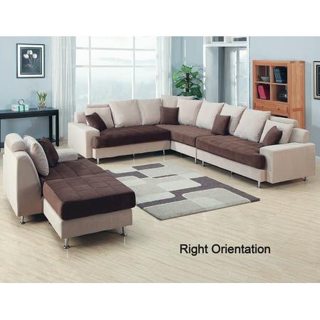 AC Pacific J2020 5 Piece Contemporary Living Room Set