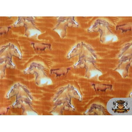 Mountain Horse Diamond Fleece - Fleece Printed Horse *Brown Horse* N-145