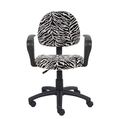 Perfect Posture Delux Microfiber Task Chair with Loop Arms in