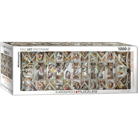 The Sistine Chapel Ceiling Panoramic by Michelangelo 1000-Piece Puzzle ()