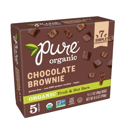 Pure Organic Chocolate BrownieFruit & Nut Bar 8.5 oz 5 - 100% Pure Organic Chocolate