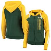 Green Bay Packers G-III 4Her by Carl Banks Women's Linebacker Full-Zip Hoodie - Green/Gold