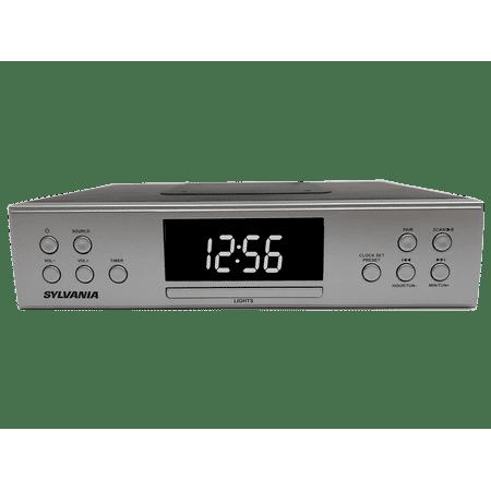 Sylvania Bluetooth(R) Kitchen Undercounter Radio (FM, AUX IN, CLOCK, MOUNTING TEMPLATE) (Under Cabinet Kitchen Radio)