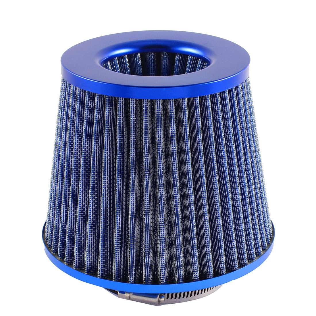 "Universal 3"" Inlet Round Cone Shape High Flow Air Intake Filter Blue for Car"