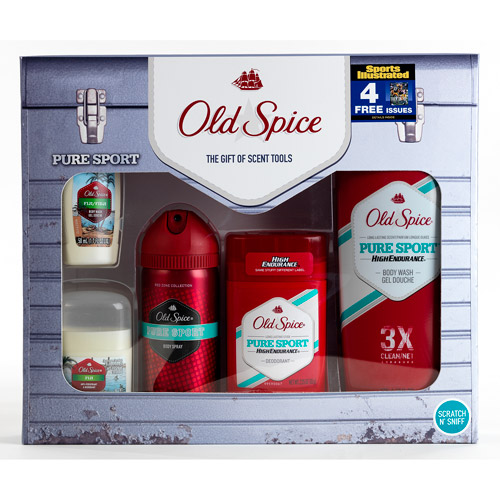 """Old Spice Pure Sport Gift Set with Bonus """"Sports Illustrated"""" Subscription (value saving $21)"""