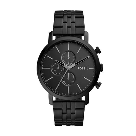 Fossil Men's Luther Black Stainless Steel Chronograph Watch (Style: BQ2330IE) ()