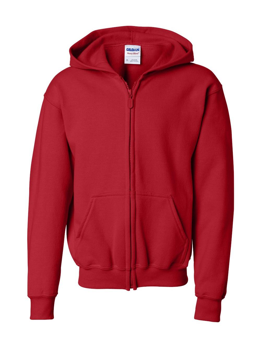 Fleece Heavy Blend Youth Full-Zip Hooded Sweatshirt