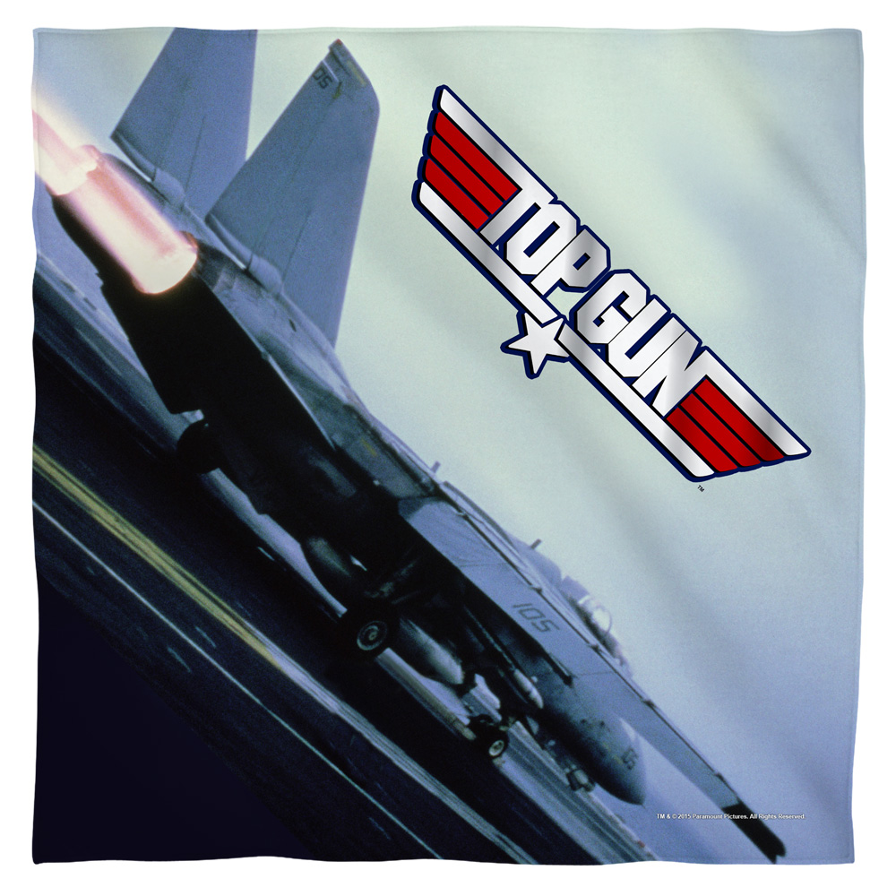 Top Gun Take Off Poly 22X22 Bandana White One Size