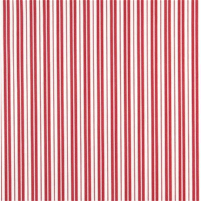Designer Fabrics B462 54 in. Wide Red, Ticking Striped Indoor & Outdoor Marine Scotchgard Acrylic Upholstery Fabric
