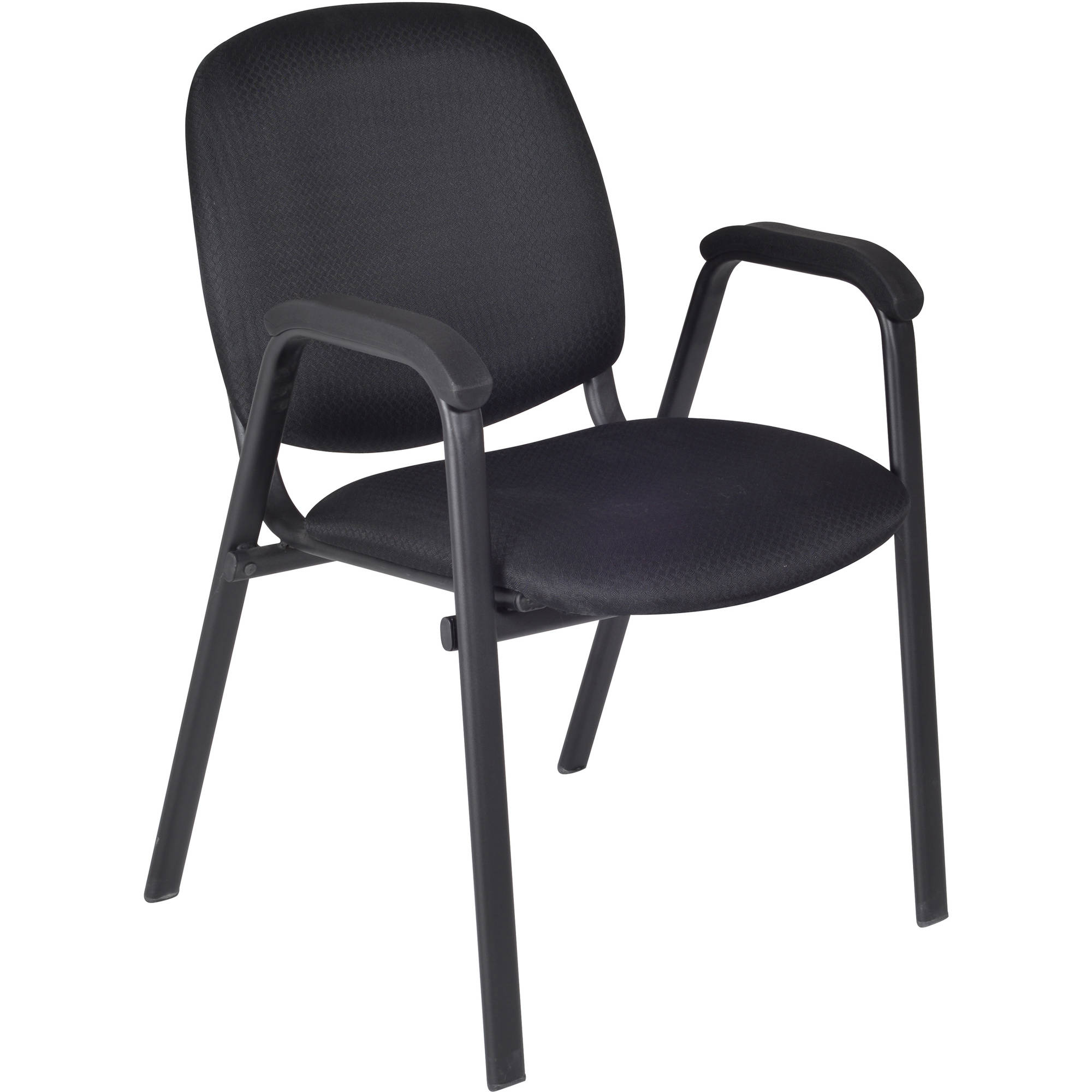 Regency Ace Stack Chairs, Black, 4pk