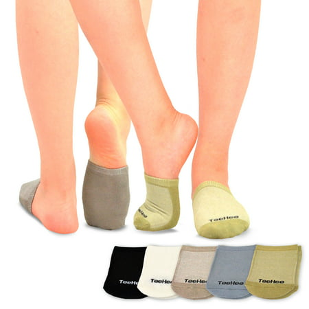 TeeHee Womens Bamboo Toe Topper Liner Socks - Bamboo Tights