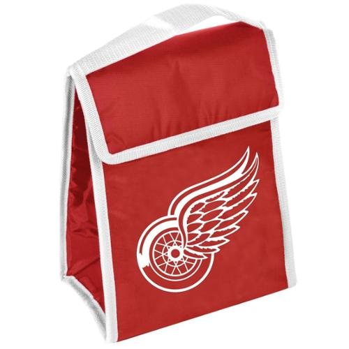 Detroit Red Wings Official NHL 9 inch  x 7 inch  Insulated  Velcro Lunch Box Lunchbox Bag by Forever Collectibles