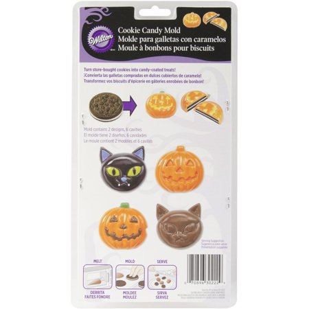 2115-0222 Halloween Cat, Pumpkin, Candy Cookie Mold By Wilton Ship from US
