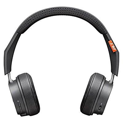 plantronics backbeat 500 wireless bluetooth headphones - lightweight memory foam headband and earcups - compatible with iphone, ipad, android, and other smart devices - dark grey