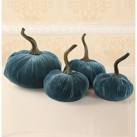 The Holiday Aisle Velvet Pumpkin Decorative Accent - Psycho Pumpkin
