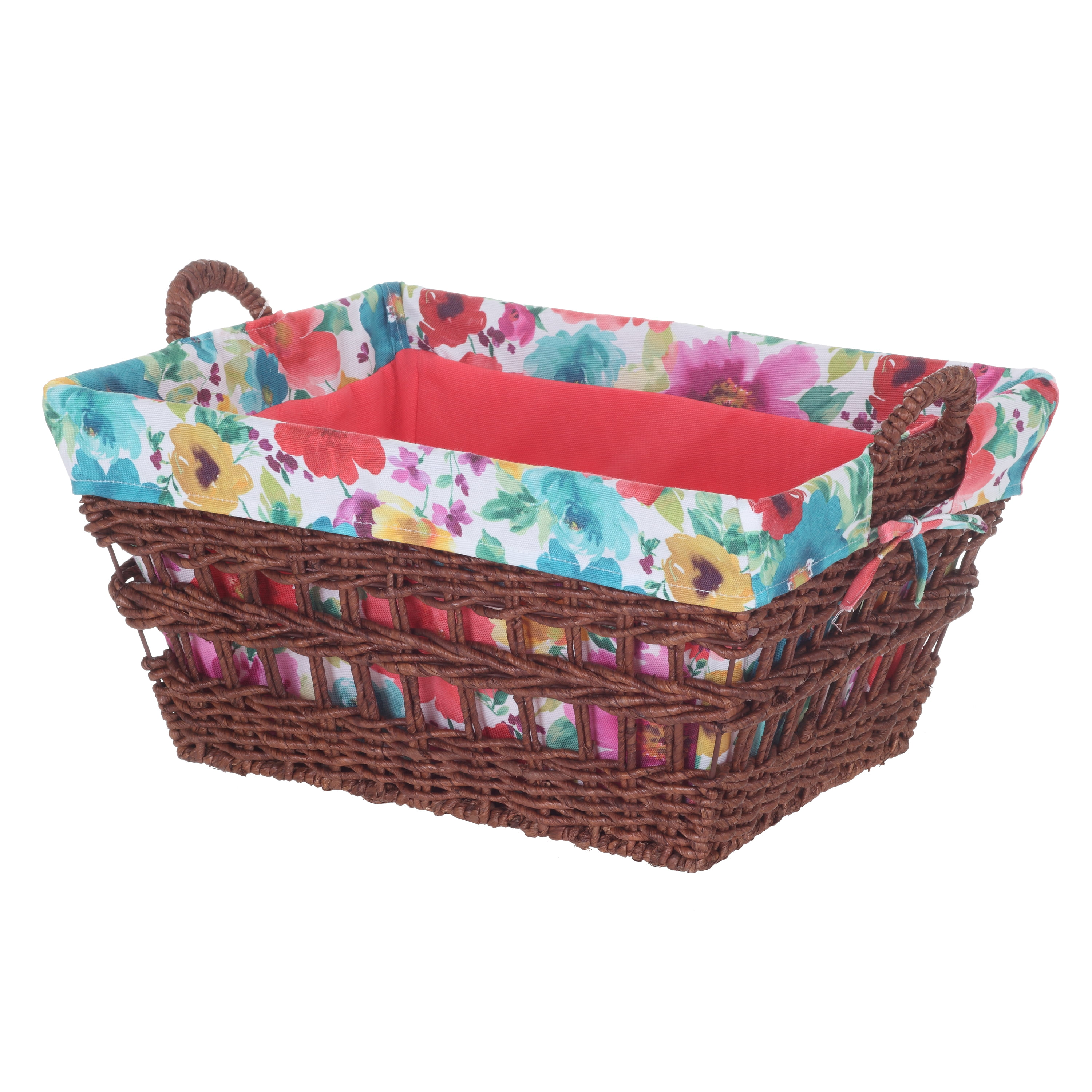 Pioneer Woman Rectangle Maize Basket - Breezy Blossom Floral