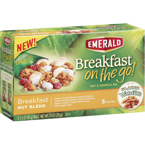 Emerald Breakfast on the Go! Breakfast Nut Blend, 5-Pack