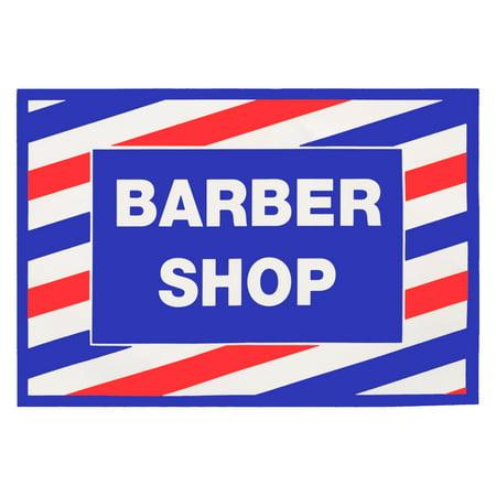 Barber Shop In Walmart : ... Barber Shop Reusable Vinyl Window Decal Sign, SC-9014 - Walmart.com