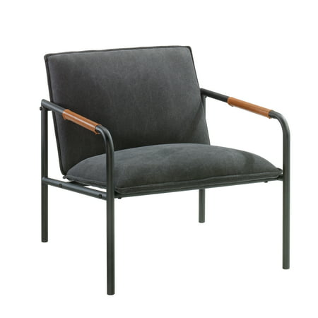 Charcoal Metal Finish (Sauder Boulevard Cafe Metal Lounge Chair, Charcoal Gray Finish )