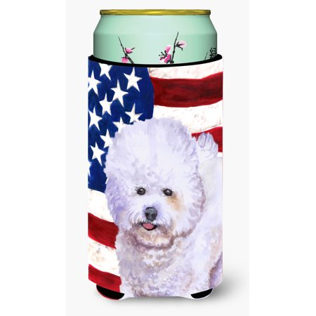 Bichon Frise Patriotic Tall Boy Beverage Insulator Hugger BB9648TBC
