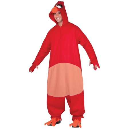 Adult Angry Bird Movie Red Bird Unisex Costume (Angry Birds 3-4 Halloween)