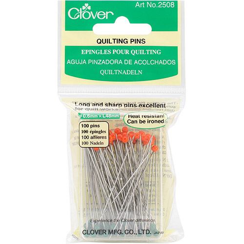 Clover Quilting Pins Glass Head Boxed 100pc