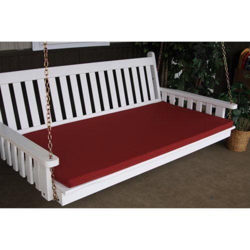 A & L Furniture Sundown Agora 75in Swing Bed Cushion - Twin Size