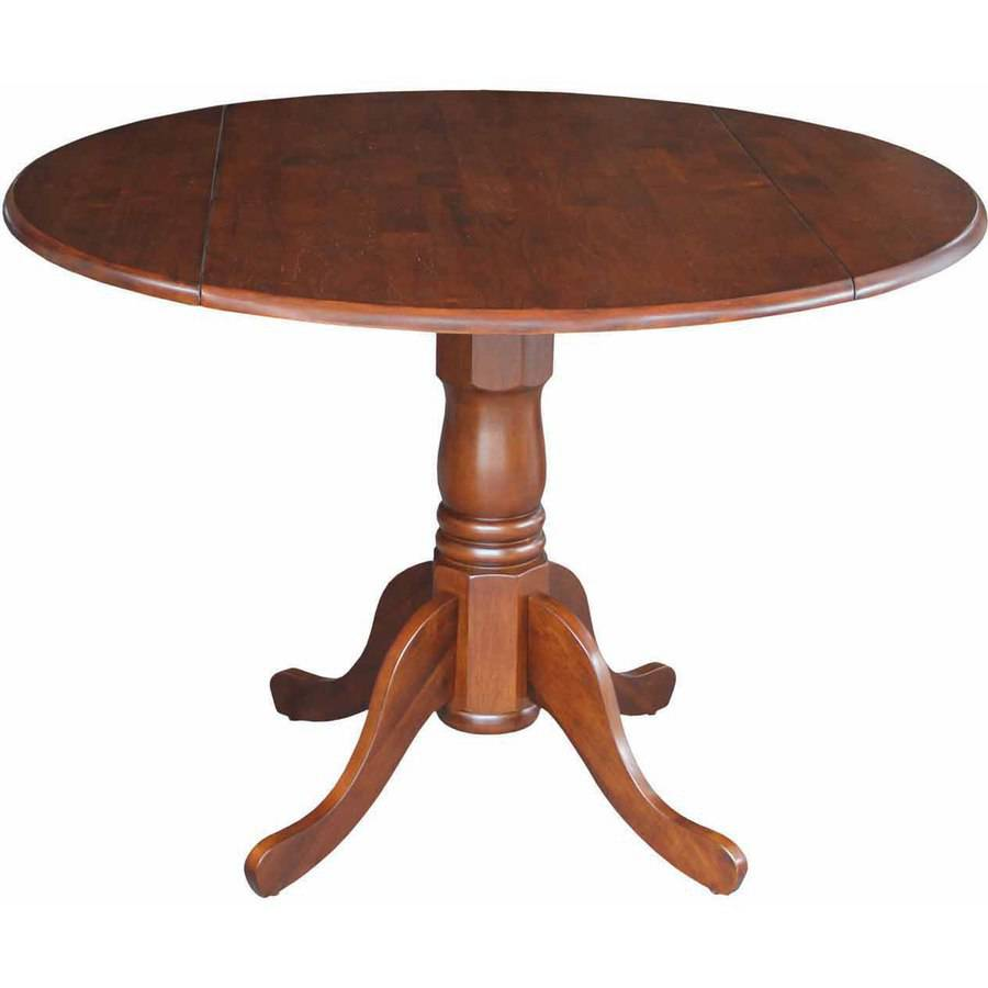 "42"" Round Dual Drop Leaf Pedestal Table"