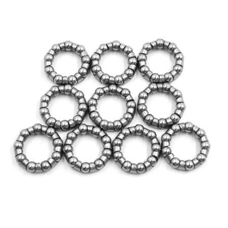 10pcs Steel 18mm Inner Dia 9 Balls Bike Axle Wheel Ball Bearing Cage Retainer Cage Open Ball Bearings