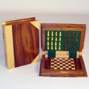 Wood Book Style Magnetic Chess Set