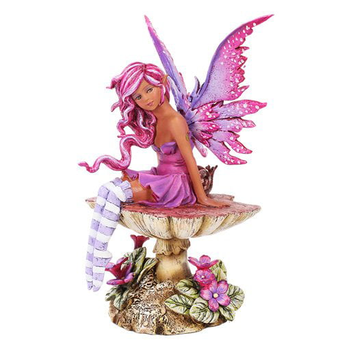 Amy Brown Licensed Magenta Fairy Statue Polyresin Figurine Home Decor by Pacific Trading
