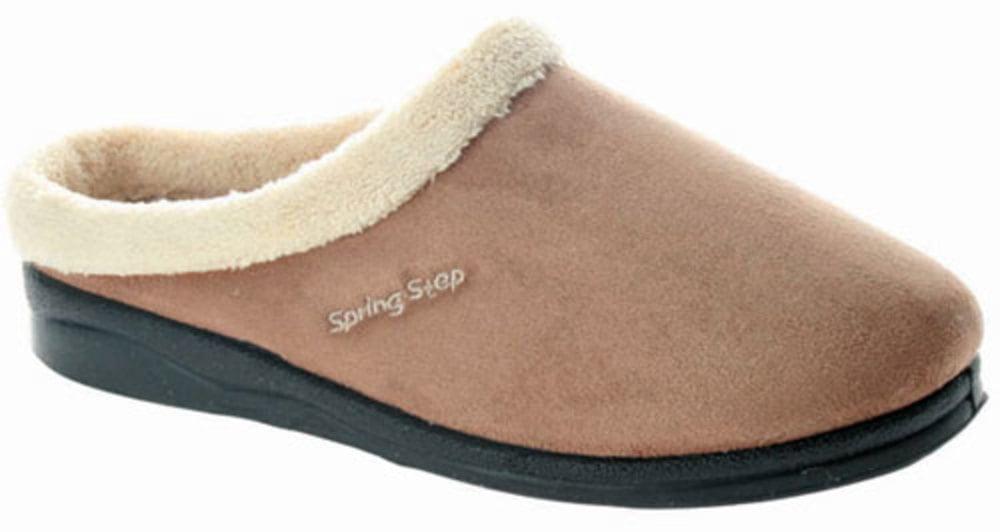Women's Spring Step Slippers BEIGE 42 M EU 10.5-11 M by