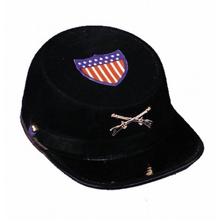 Grey Civil War Economy Cap Adult Halloween Accessory