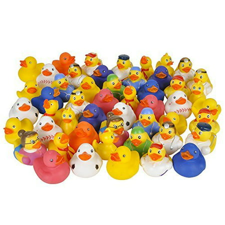 Fun Express Assorted Rubber Ducks - 50 Pieces - Rubber Duck Clip Art