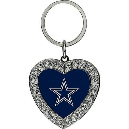 Dallas Cowboys Bling Rhinestone Heart Keychain