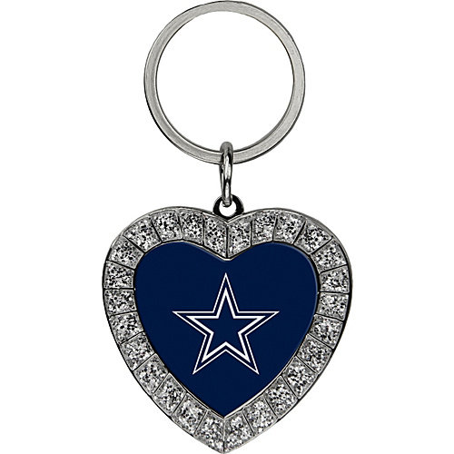 Luggage Spotters Dallas Cowboys Bling Rhinestone Heart Keychain