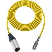 Sescom SC1.5XMJZYW Audio Cable Canare Star-Quad 3-Pin XLR Male to 3.5mm TRS Female Yellow - 1.5 Foot