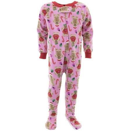 Mon Petit Girls Christmas Pink Footed Pajamas