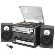 Pyle 3-speed vintage turntable cd/mp3 radio/bluetooth