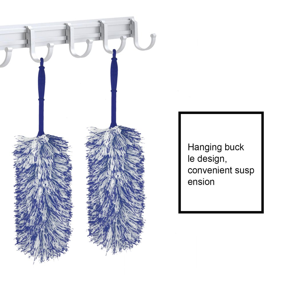 Soft Microfiber Flexible Feather Duster House Home Room Cleaner Handle