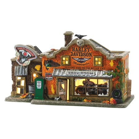 Dept 56 Halloween Village 4051011 Harley-Davidson's Last Chance 2016 - Last Minute Halloween Ideas For Guys
