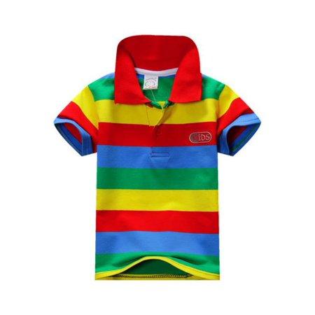 Sawpy Stripe Kid Boys Shirt Fashion Cotton Blouse For Boys Tops