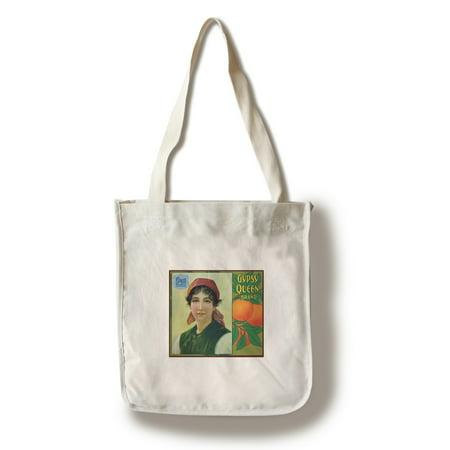 Riverside  California   Gypsy Queen Brand Citrus Label  100  Cotton Tote Bag   Reusable