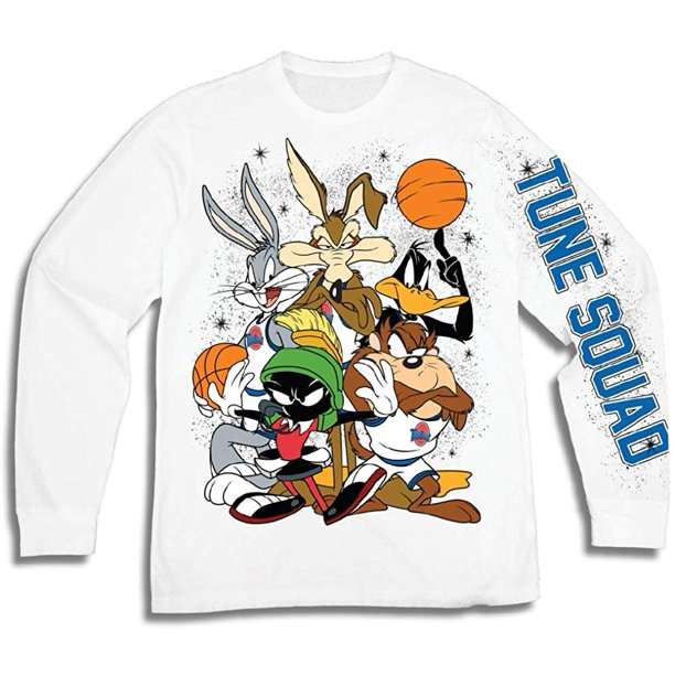 Space Jam Space Jam Mens Group Shirt Tune Squad And Monstars Long Sleeve Tee 90 S Classic T Shirt Walmart Com Walmart Com