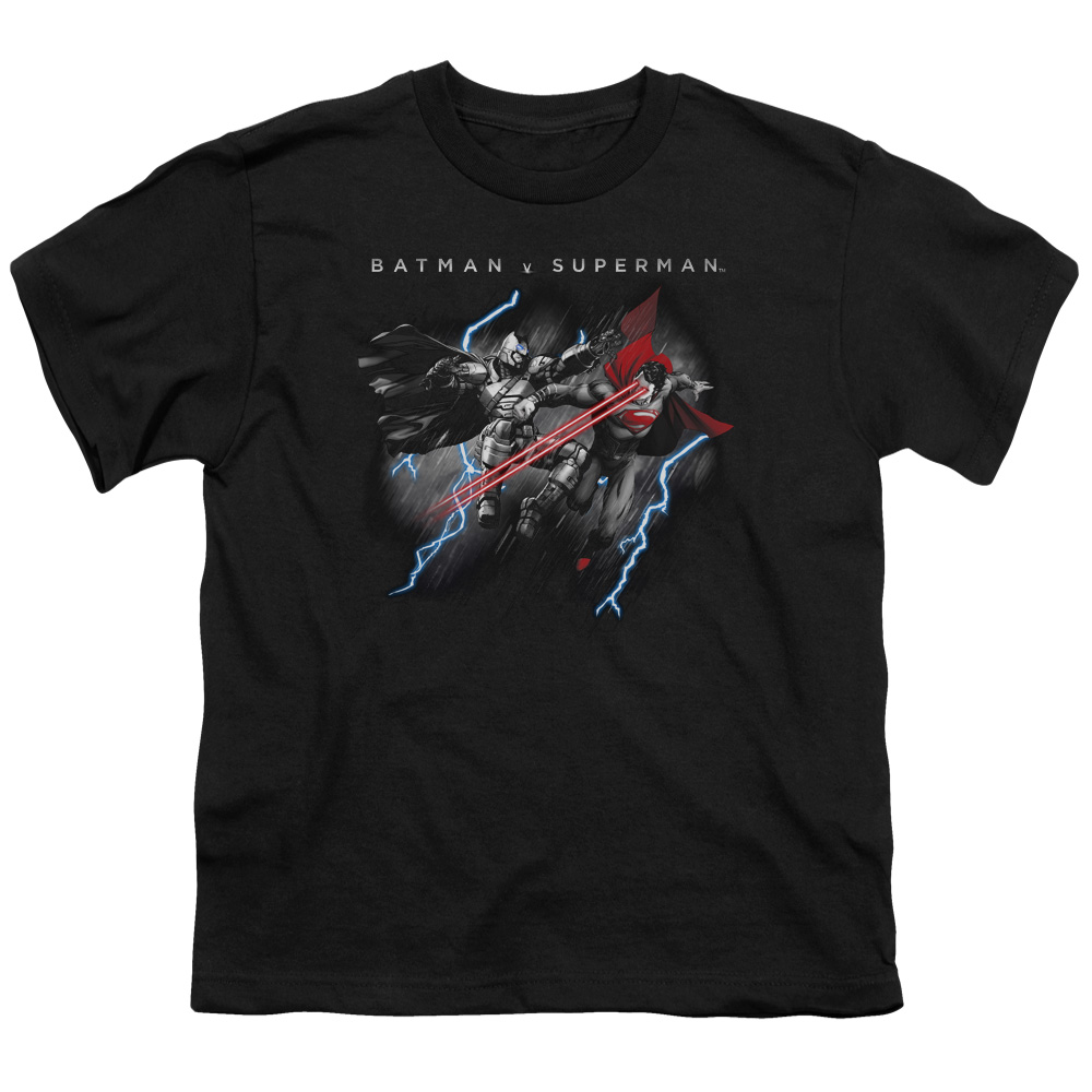 Batman Vs Superman Lightning Fight Big Boys Short Sleeve Shirt